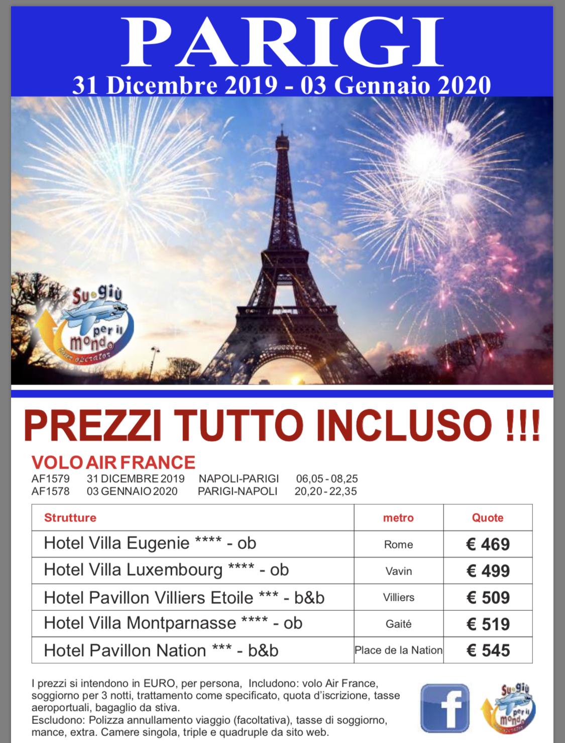 Capodanno a Parigi - Capodanno prezzo tutto incluso